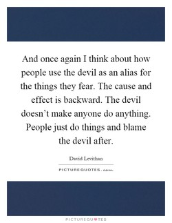 And once again I think about how 