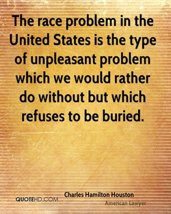 The race problem in the 