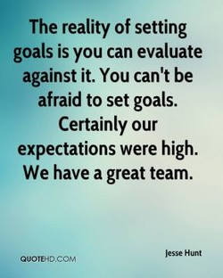 The reality of setting 
