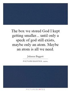 The box we stored God I kept 