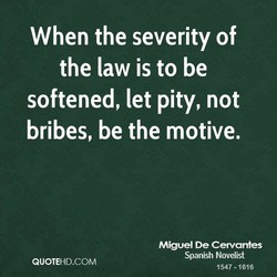 When the severity of 