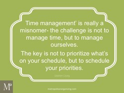 Time management' is really a 