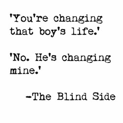 'You're changing 