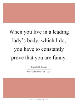 When you live in a leading 