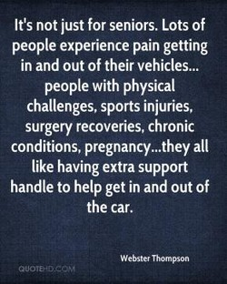 It's not just for seniors. Lots of 