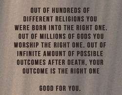 OUT OF HUNDREDS OF 