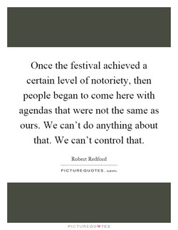 Once the festival achieved a 