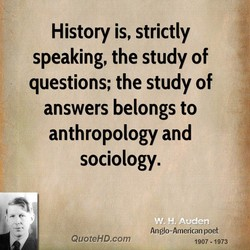 History is, strictly 