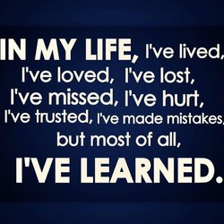 IN MY LIFE, lived, 