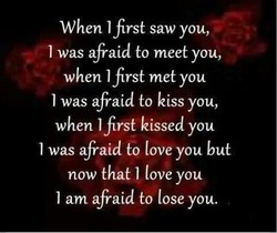 When I first saw you, 