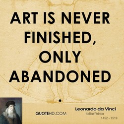 ART IS NEVER 