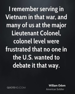 I remember serving in 