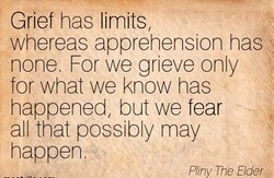 Grief has limits 