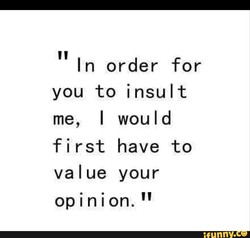 In order for 