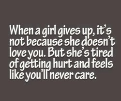 When a girl gives up, it's 
