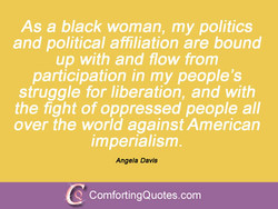 As a black woman, my politics 
