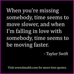 When you're missing 