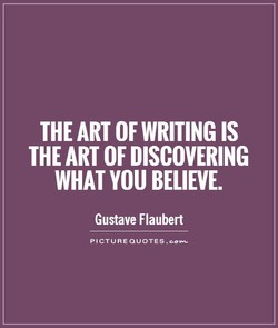 THE ART OF WRITING IS 