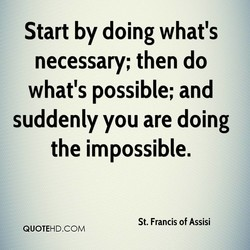 Start by doing what's 