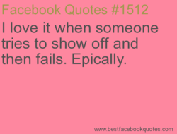 I love it when someone 