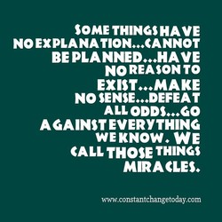 SOME THINGS HAVE 