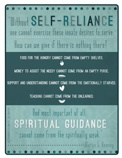 Without SELF-RELIANCE 