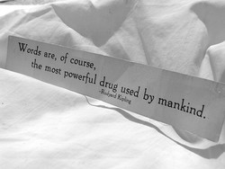 words are, of course, 