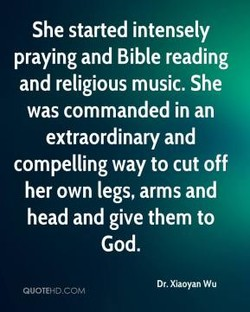 She started intensely 