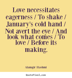 Love necessitates 