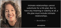 Intimate relationships cannot 