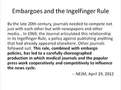 Embargoes and the Ingelfinger Rule 