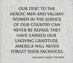 OUR DEBT TO THE 