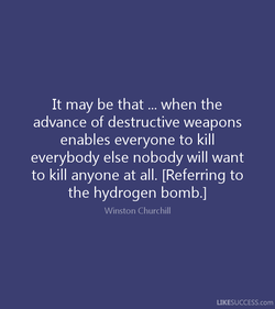 It may be that ... when the 