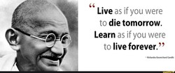 Live as if you were 