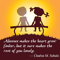 Absence makes Che heart grow' 