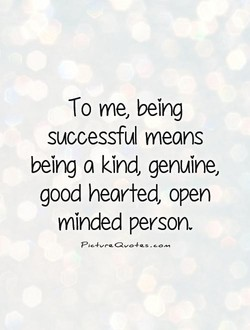 To me, being 
