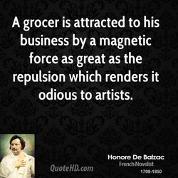 A grocer is attracted to his 