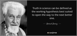 Truth in science can be defined as 