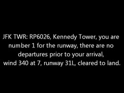 JFK TWR: RP6026, Kennedy Tower, you are 
