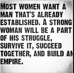 MOST WOMEN WANT A 