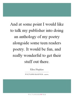 And at some point I would like 