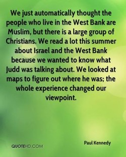 We just automatically thought the 