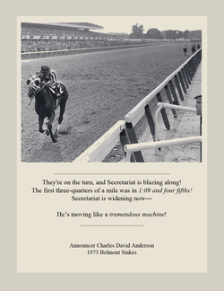 They're on the turn, and Secretariat is blazing along! 