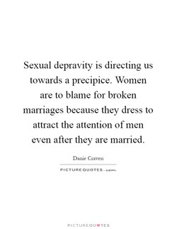 Sexual depravity is directing us 