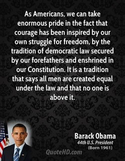 As Americans, we can take 