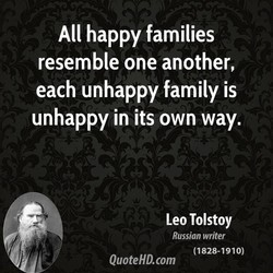 All happy families 