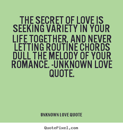 THE SECRET OF LOVE IS 