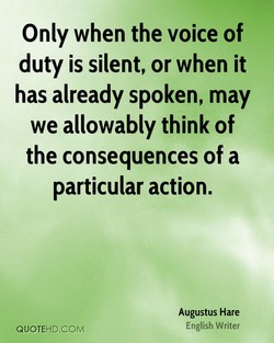 Only when the voice of 