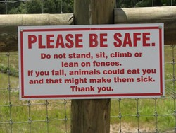 PLEASE BE SAFE. 