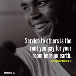 Service to others is the 